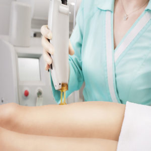 Laser hair removal in the beauty salon.